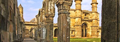 Main mosque (1508-1509), UNESCO World Heritage site, Champaner, Gujarat state, India